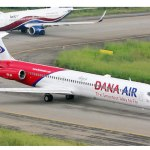 Dana Air plane aborts trip after mid-air collision with bird