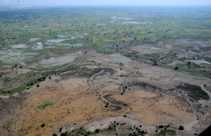 AERIAL VIEW OF FARM LAND IN TARABA STATE AFTER THE FLOOD