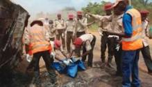 FRSC officials at an accident scene used to illustrate the story