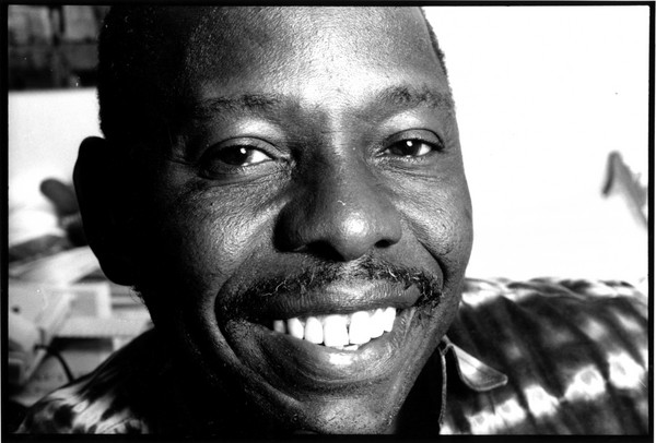 Ken Saro-Wiwa, one of nine Ogoni community activists executed after an unfair trial in 1995.