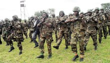 Nigerian soldiers used to illustrate the story.