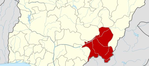 Taraba State on map