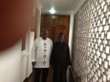 President John Mahama of Ghana (left) and former Lagos Governor, Bola Tinubu (right)