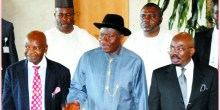 President Goodluck Jonathan at the fundraiser ... On Saturday. Photo Credit: Courtesy The Nation