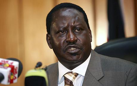 Kenyan Prime Minister Raila Odinga ... Photo: nehandaradio.com via google