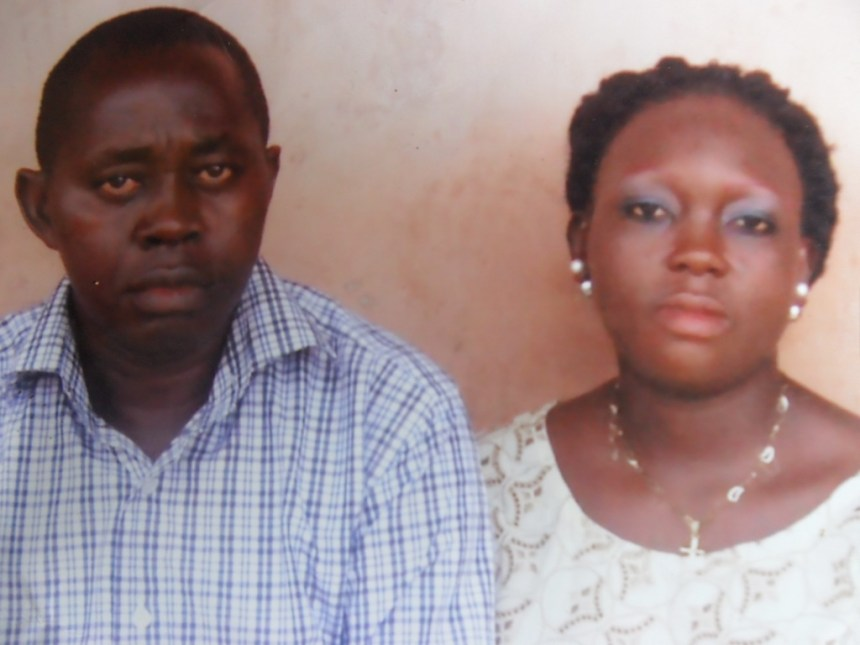The late Inpector Adelakun Lawal and his wife Modupe (2)