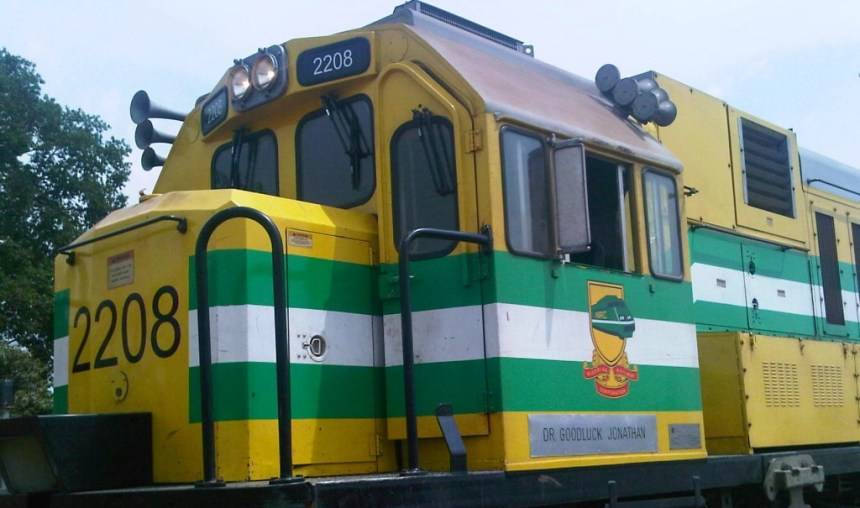 A train used to illustrate the story