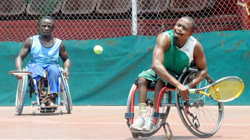 Wheelchair tennis players