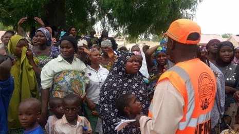 Widows, Orphans, meet Borno governor shettima after Bama killings, Borno state