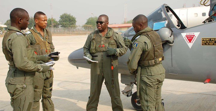 Nigerian Air Force officers
