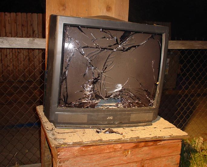 Destroyed TV