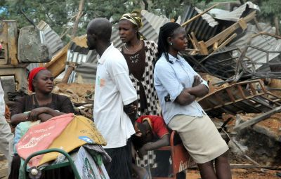MAKE-SHIFT MARKET IN MPAPE DEMOLISHED