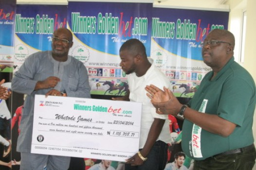 MR Whetode James:  Winners Golden Bet's First  lucky winner of over a 1MN