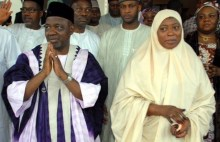 Namadi sambo and wife Amina sambo1