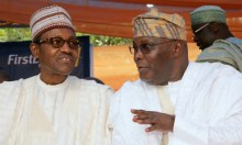Left to Right: Muhammadu Buhari and Atiku Abubakar