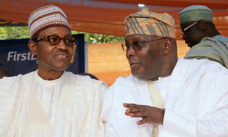Left to Right: Muhammadu Buhari and Atiku Abubakar