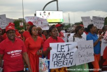 Women protest Chibok