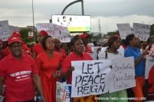 Women protest Chibok