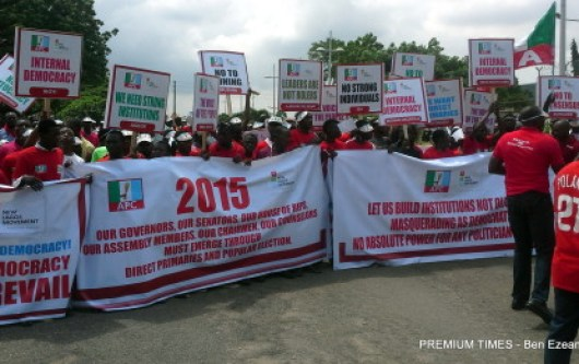 Lagos APC members protest imposition of candidates