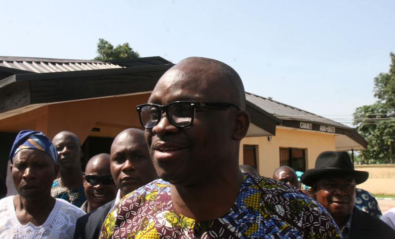 Ayo Fayose, Ekiti state governor.