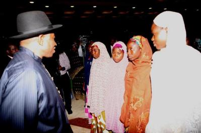 Jonathan with Chibok