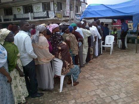 Osun Election: Voters on queue for accreditation