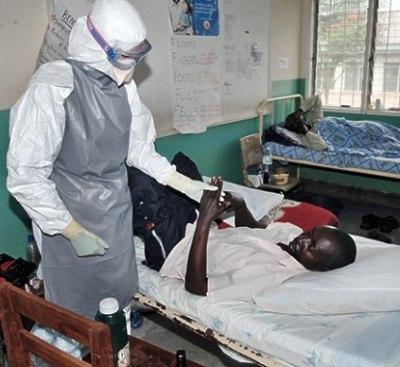 Ebola patients receiving treatment