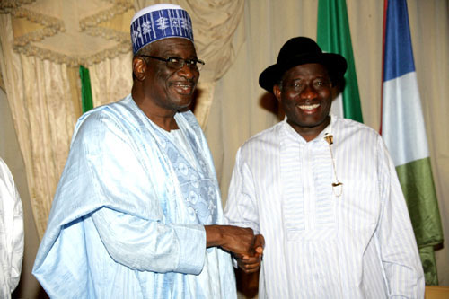 Bello Haliru and President jonathan