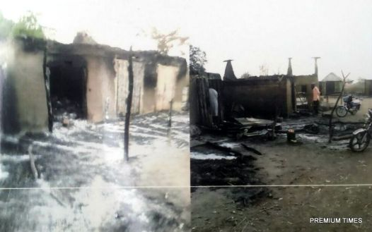 Village razed by Soldiers