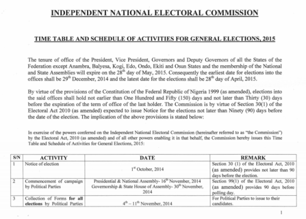 INEC_2015_elections_timetable