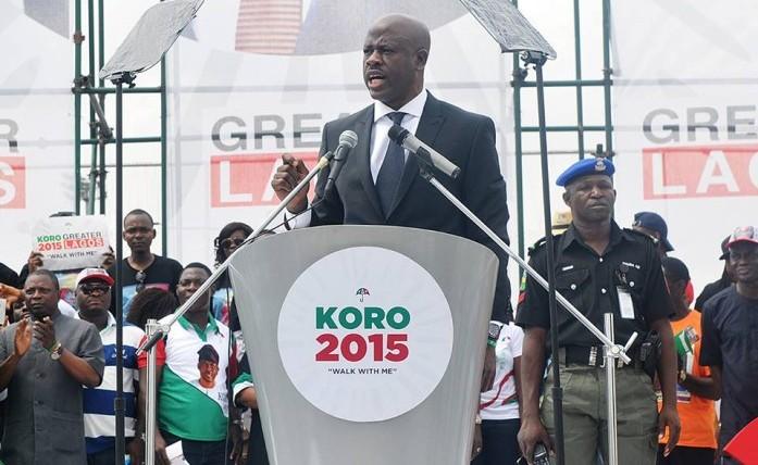 FILE PHOTO: Musiliu Obanikoro at the Lagos PDP governorship primaries rally