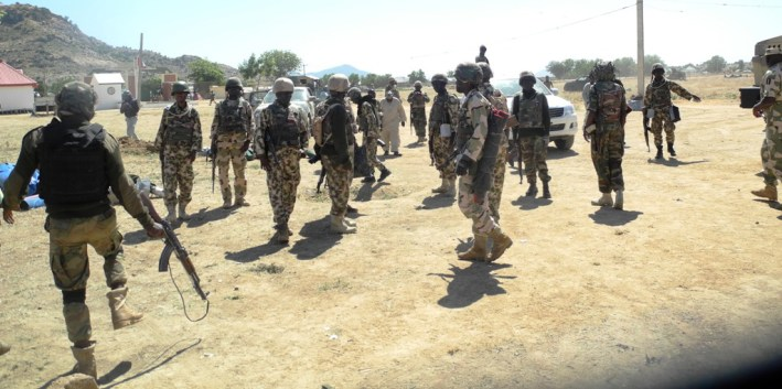 Image result for Army engages Boko Haram insurgents in gun battle in Auno village