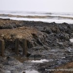 Part of the seashore of Ayetoro washed away by the strong tide of the Atlantic Ocean