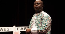 FILE PHOTO: Pius Adesanmi delivering a TedEx speech. Image courtesy: Adesanmi Facebook Page