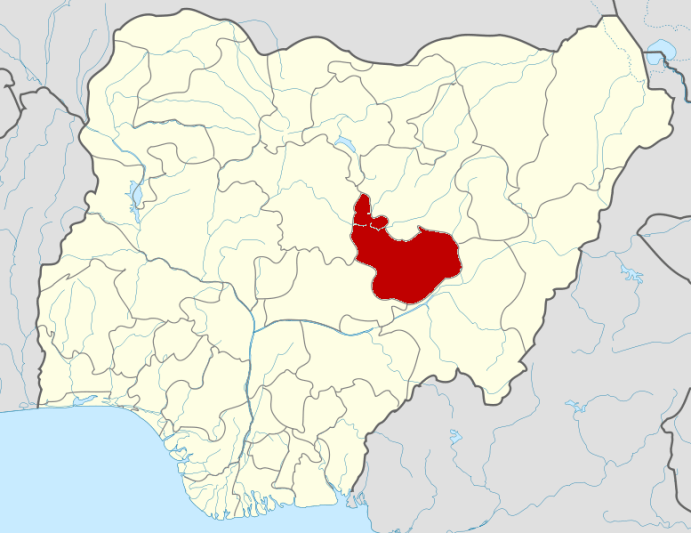 Plateau State on Map