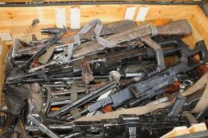 Firearms used to illustrate the story