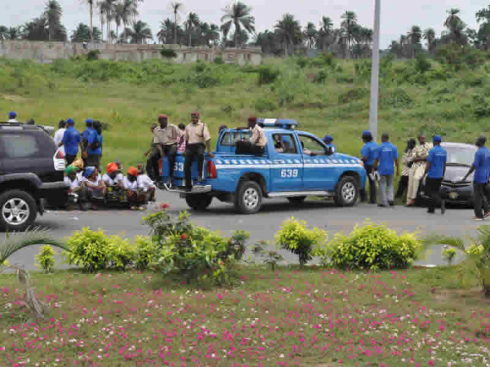 FILE PHOTO: FRSC officials