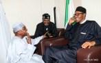 Muhammadu Buhari with Senator Mamora and Garba Shehu