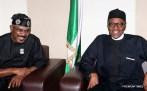 Muhammadu Buhari with Senator Mamora