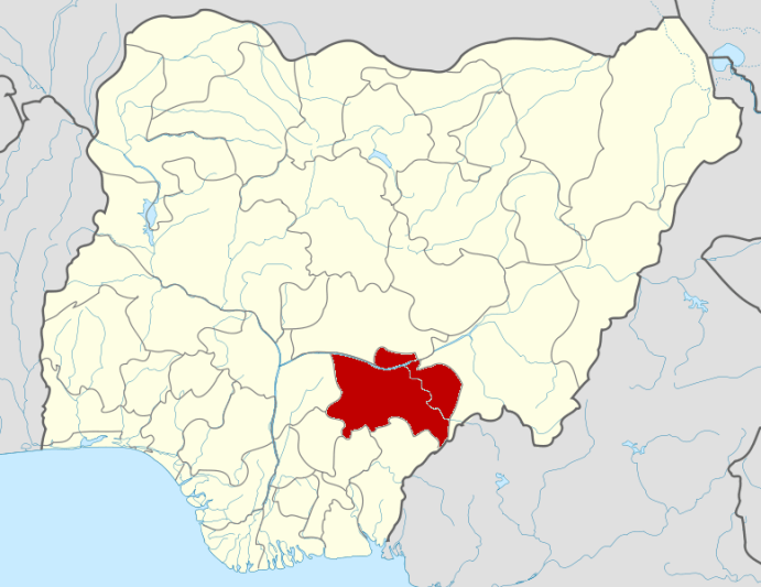 Benue on map