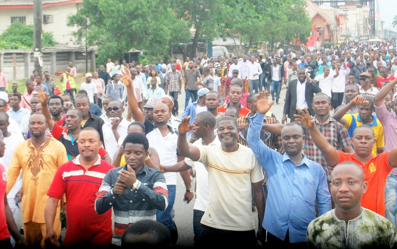 Protest in Rivers State, Nigerian used to illustrate the story. Photo credit: The Nation