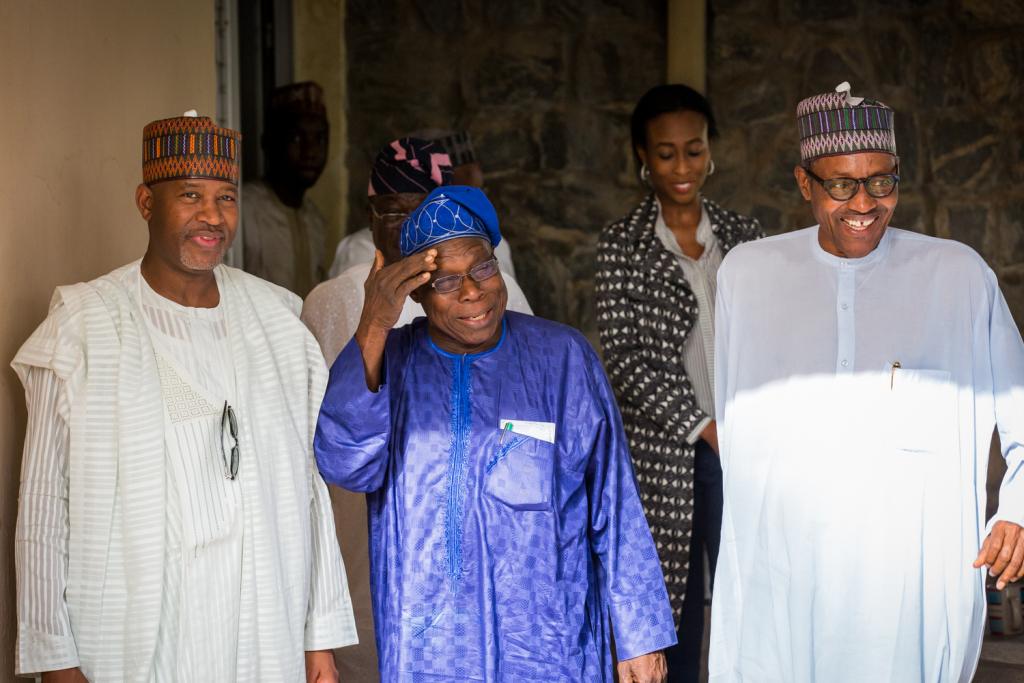 www.ekpoesito.com: Buhari meets Obasanjo in Abuja