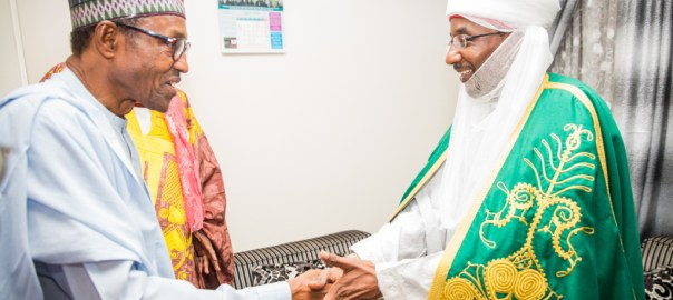 FILE PHOTO: President Muhammadu Buhari and Emir of Kano, Sanusi Lamido Sanusi