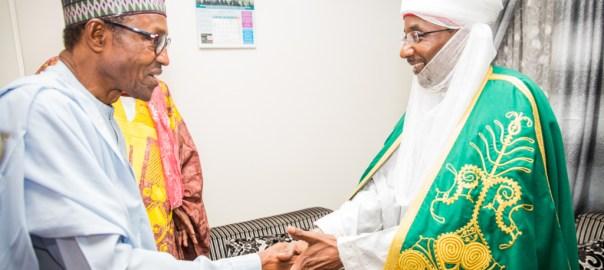FILE PHOTO: President Muhammadu Buhari and Emir of Kano, Sanusi Lamido Sanusi