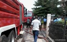 FILE PHOTO: Fire fighting trucks