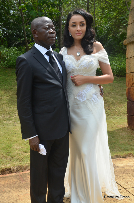 The newly wedded couple, Mr and Mrs Adms Oshiomhole.