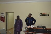 Laolu Akande(Right) and Mr. Mojeed (Left) -Managing Editor, Premium Times