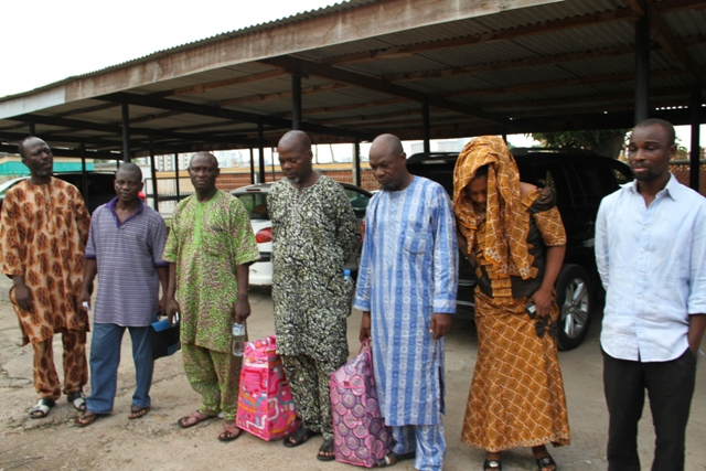 FILE PHOTO: CBN Staffs From Left: Yusuf Fatai, Toogun Kayode, Afolabi     Olufemi Johnson, Olaniran Muniru Adeola, Patience O Eye and Ilori   Adekunle   Sunday.