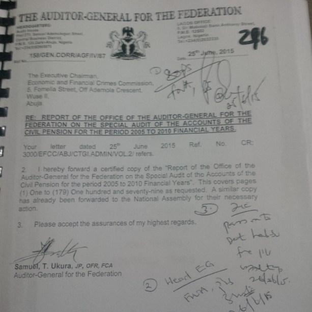 Auditor-General's Letter