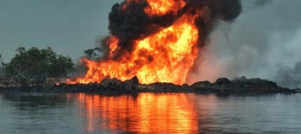 Pipeline on fire used to illustrate the story.